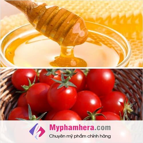 cách làm trắng da cấp tốc bằng cà chua mật ong mỹ phẩm hera