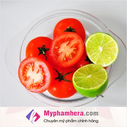 cách làm trắng da cấp tốc bằng cà chua và chanh mỹ phẩm hera