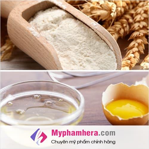 cách làm trắng da toàn thân bằng trứng gà và bột yến mạch mỹ phẩm hera