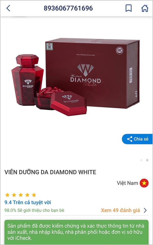 cách kiểm tra diamond white chính hãng myphamhera.com