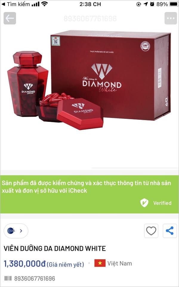 cách phân biệt viên uống trắng da diamond white ngọc trinh chính hãng myphamhera.com
