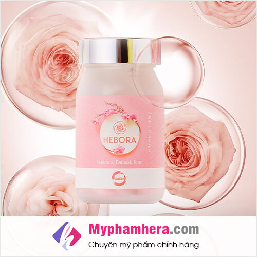 hoa hồng damask thành phần viên uống hebora mỹ phẩm hera