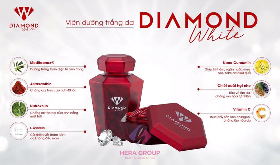Thành phần viên uống Diamond White