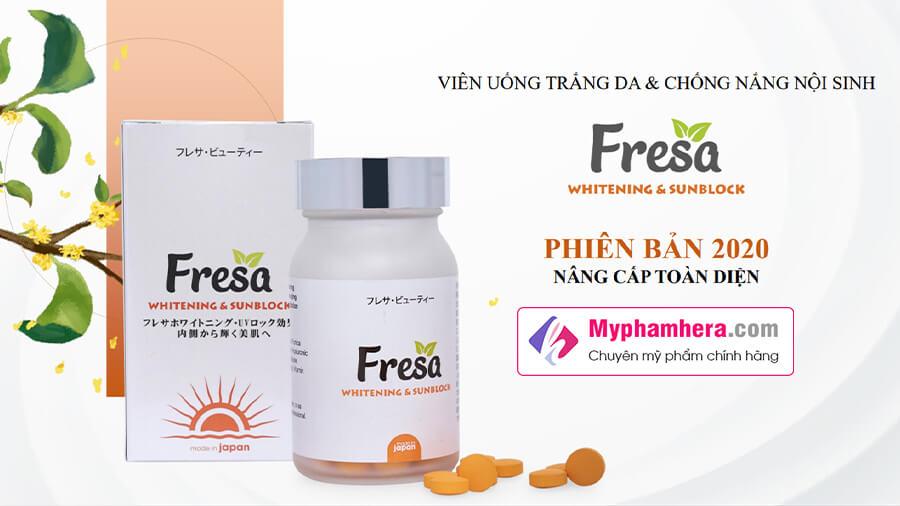 viên uống trắng da chống nắng fresa 2020 phiên bản nâng cấp mỹ phẩm hera
