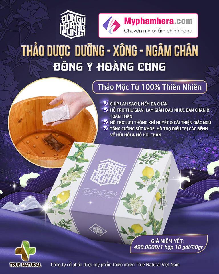 banner thảo dược dưỡng xông ngâm chân đông y hoàng cung myphamhera.com