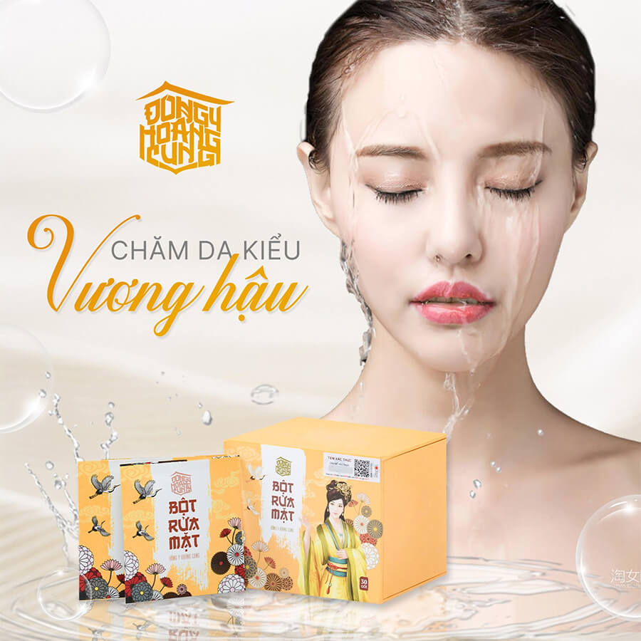bột rửa mặt đông y hoàng cung mới myphamhera.com