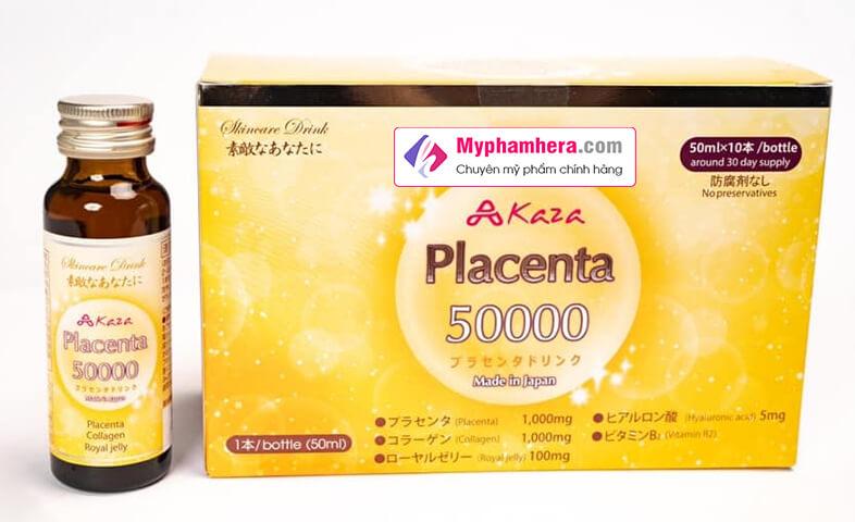 công dụng nước uống kaza placenta 50.000mg myphamhera.com