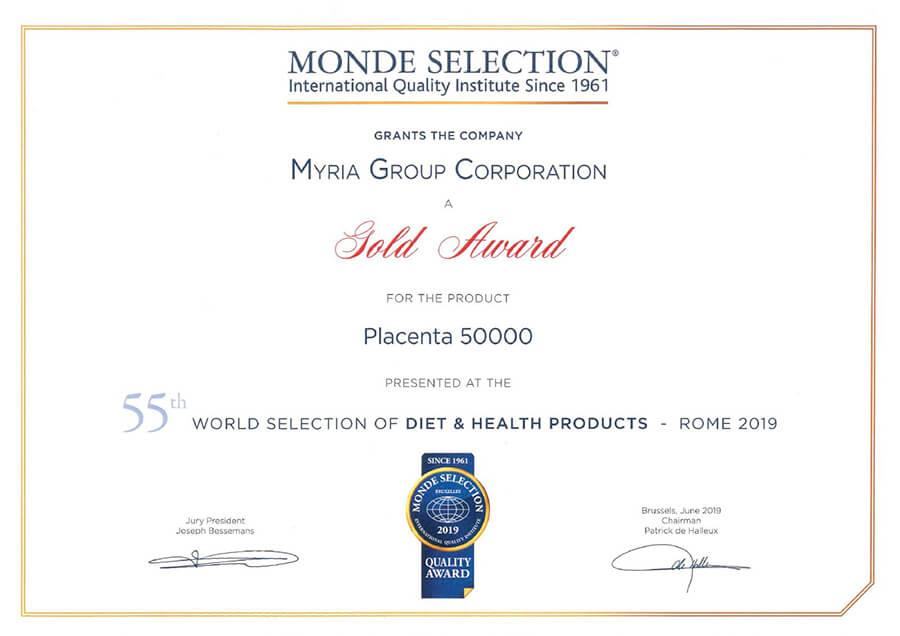 giấy chứng nhận kaza placenta 50.000mg myphamhera.com