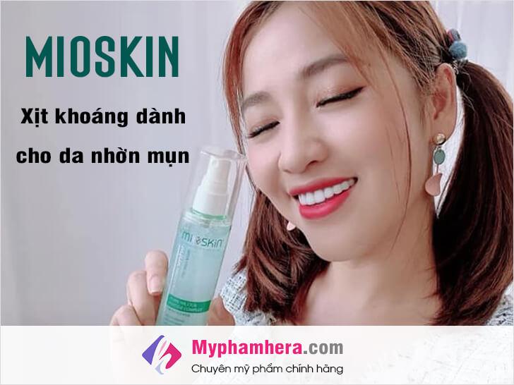 mioskin cách sử dụng xịt khoáng dành cho da nhờn mụn myphamhera.com