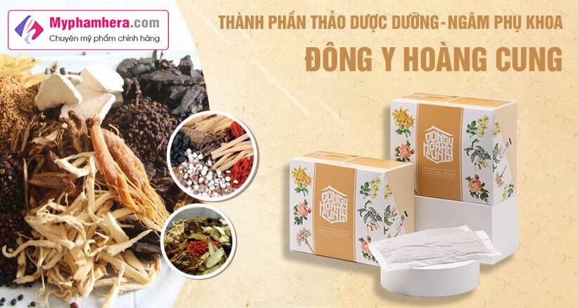 thành phần thảo dược dưỡng ngâm phụ khoa đông y hoàng cung myphamhera.com