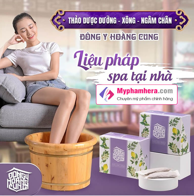 thảo dược dưỡng xông ngâm chân đông y hoàng cung myphamhera.com