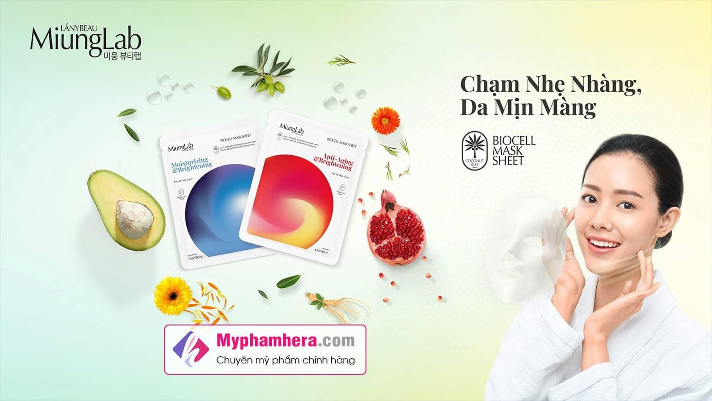 banner mặt nạ miung lab hàn quốc myphamhera.com