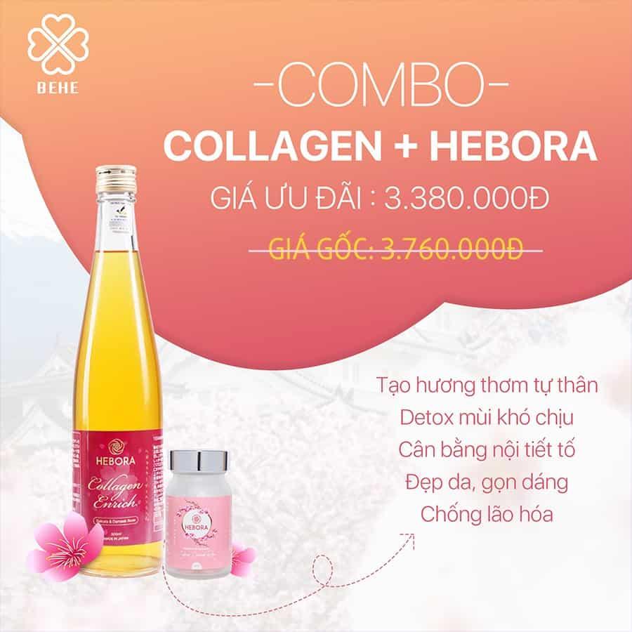 bộ đôi viên uống và collagen hebora myphamhera.com