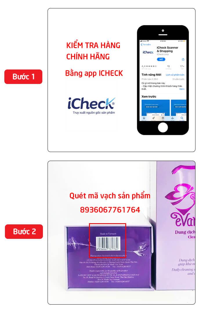 cách kiểm tra evamost chính hãng myphamhera.com