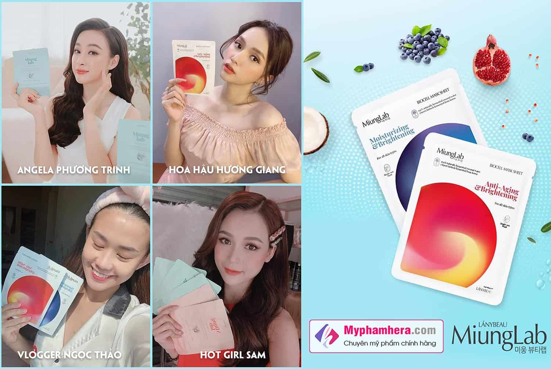 đối tượng sử dụng mặt nạ miung lab myphamhera.com