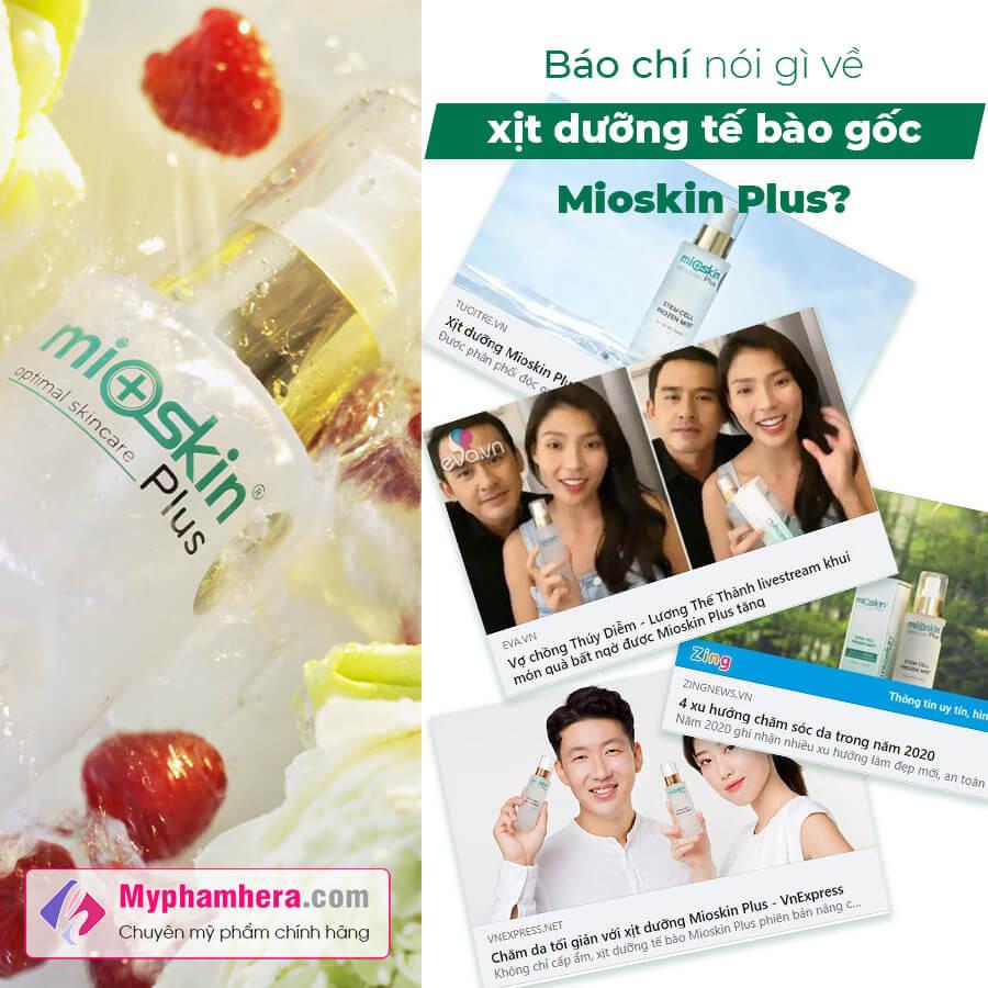 người nổi tiếng nói về Mioskin Plus myphamhera.com
