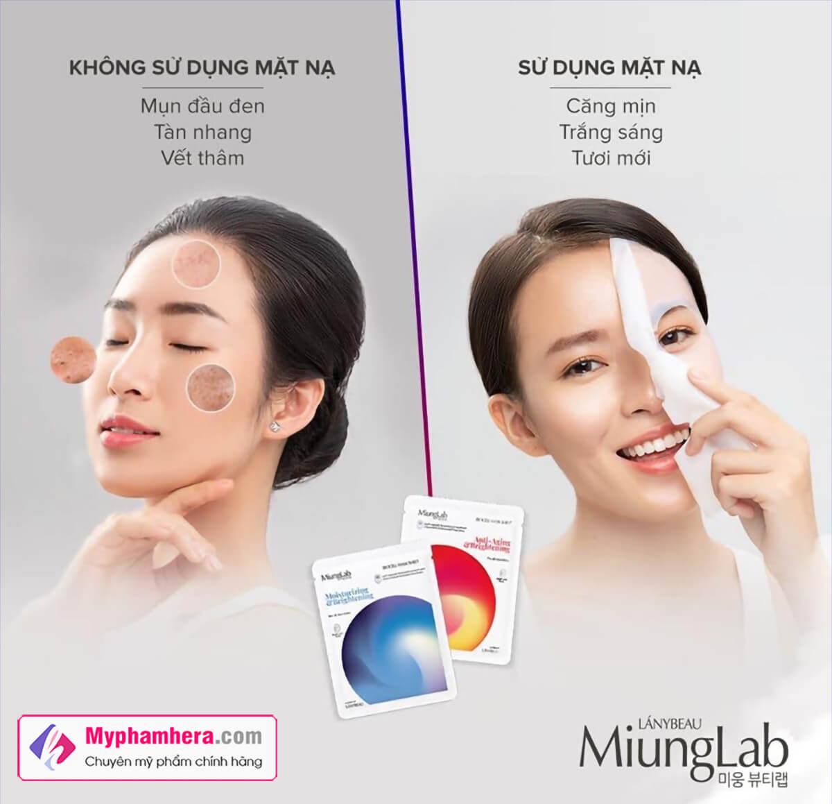 review mặt nạ miung lab hàn quốc myphamhera.com
