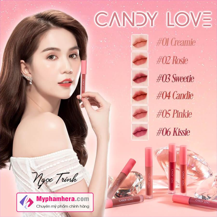 son môi candy love ngọc trinh myphamhera.com
