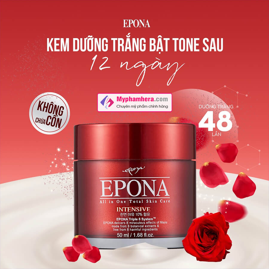 banner kem dưỡng dầu ngựa epona all in one total skin care intensive myphamhera.com