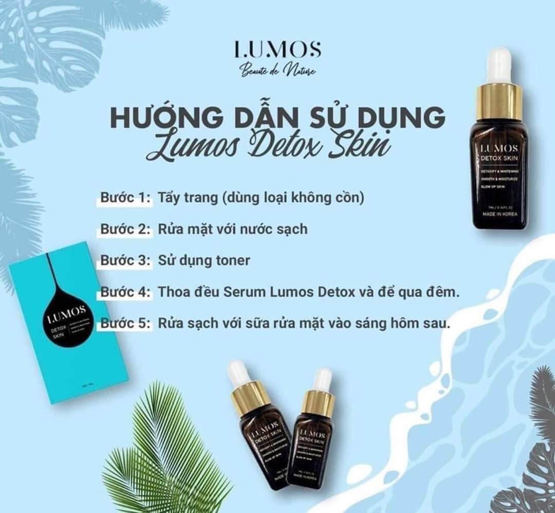 hướng dẫn sử dụng lumos detox skin myphamhera.com