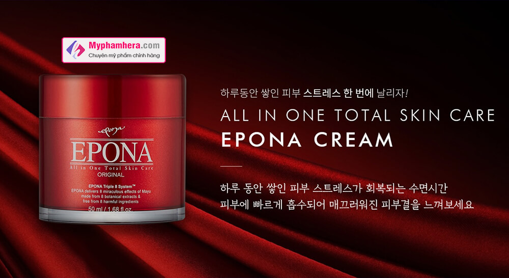 kem dưỡng dầu ngựa epona all in one total skin care intensive myphamhera.com