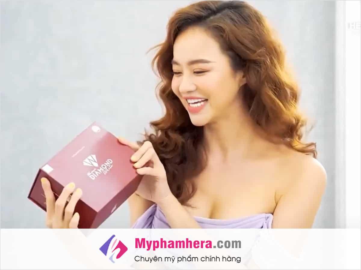 review viên uống trắng da diamond white á hậu kiều ngân myphamhera.com