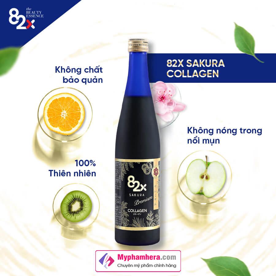 thành phần nước uống 82x sakura collagen myphamhera.com