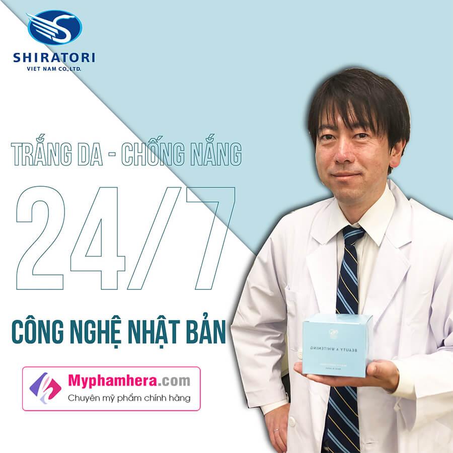 công dụng viên uống trắng da shiratori beauty whitening myphamhera.com
