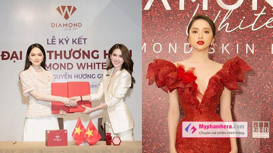đại sứ thương hiệu và lễ ra mắt diamond white myphamhera.com