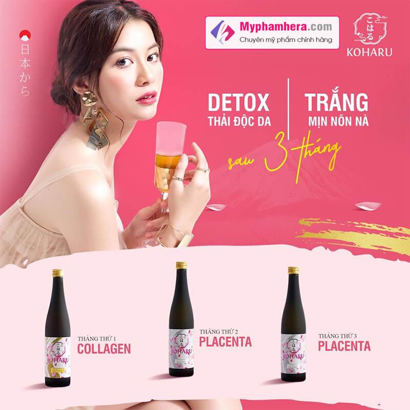 liệu trình nước uống collagen koharu myphamhera.com