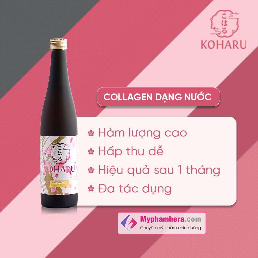 ưu điểm công dụng nước uống collagen kohagu myphamhera.com
