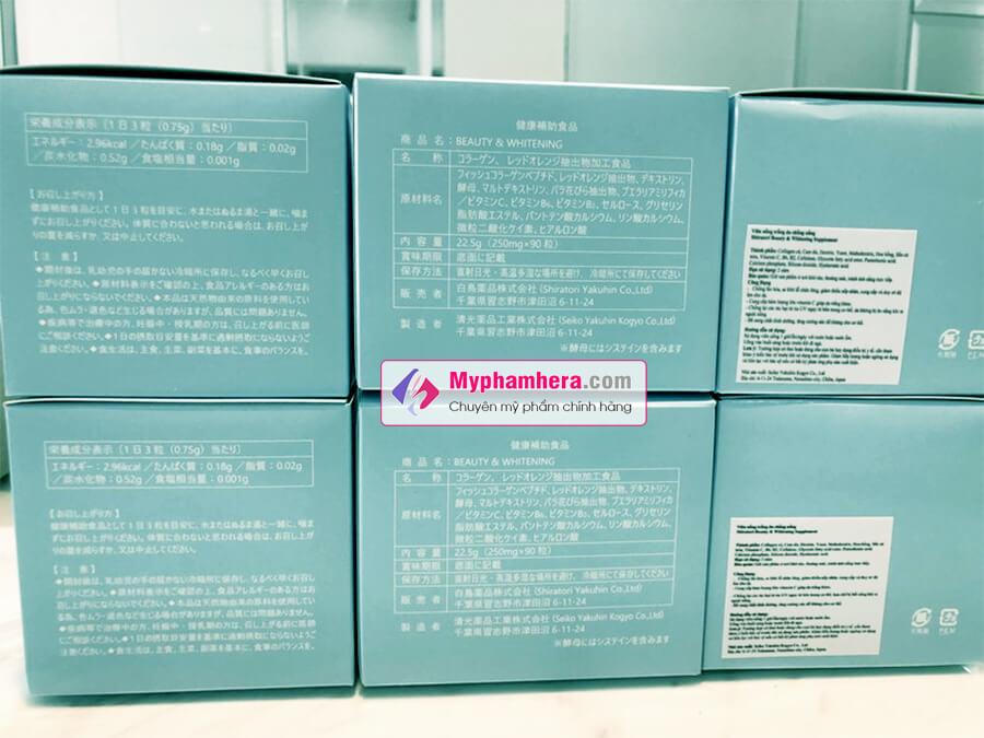 viên uống shiratori beauty whitening chính hãng mua ở đâu myphamhera.com