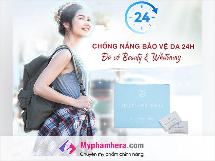 Viên uống trắng da Shiratori Beauty&Whiteningcó tác dụng gì-myphamhera.com