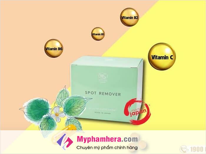 Bảng thành phần chi tiết của Viên uống trị mụn Shiratori Spot Remover-myphamhera.com