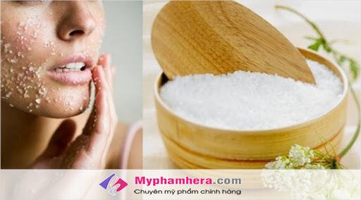 Sử dụng muối để hạn chế tàn nhang trên mặt