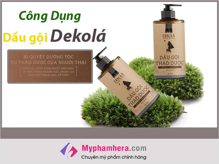 Công dụng của dầu gội thảo dược Dekola-myphamhera.com