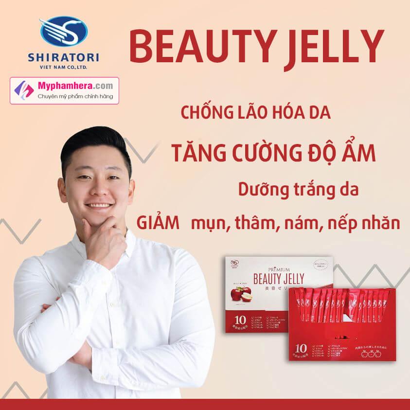 công dụng thạch ăn shiratori beauty jelly myphamhera.com