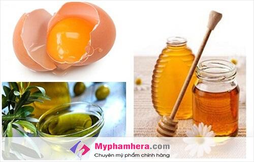 Cách làm trắng da từ trứng gà, mật ong và dầu ô liu