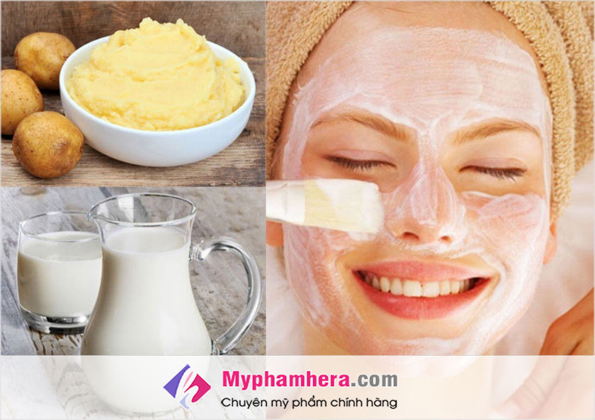 Làm sáng da mặt bằng sữa tươi