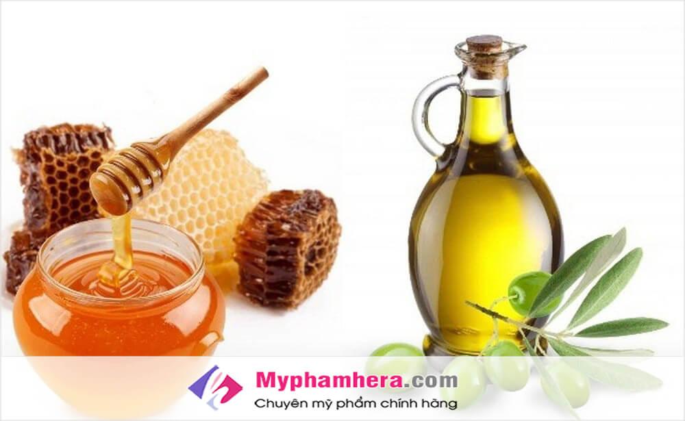 Chống lão hóa da bằng mật ong và dầu oliu