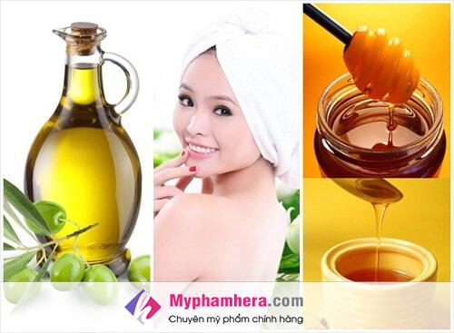 Làm trắng da bằng mật ong và dầu oliu