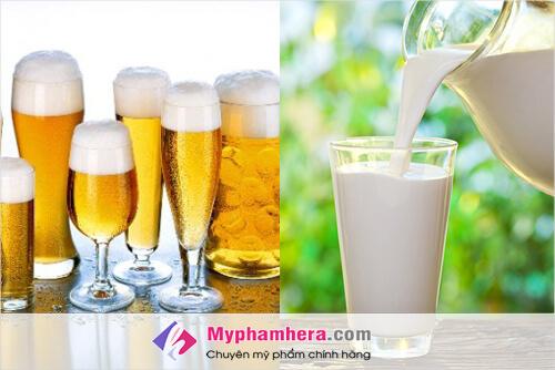 Sữa không đường và bia dưỡng da trắng cấp tốc