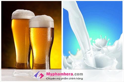 Sữa không đường và Bia