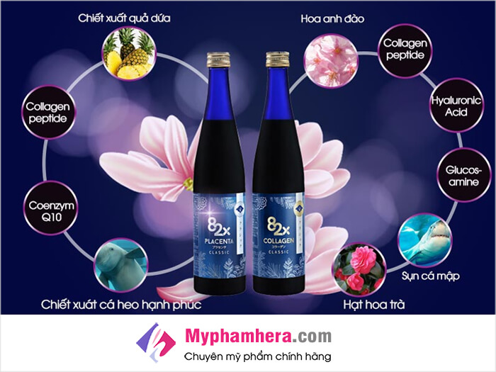 Thành phần chứa trong collagen 82x-myphamhera.com