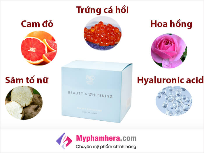 Thành phần chứa trong viên uống trắng da Shiratori Beauty&Whitening-myphamhera.com