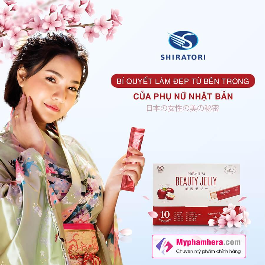 vì sao bạn nên chọn thạch ăn làm đẹp shiratori beauty jelly myphamhera.com
