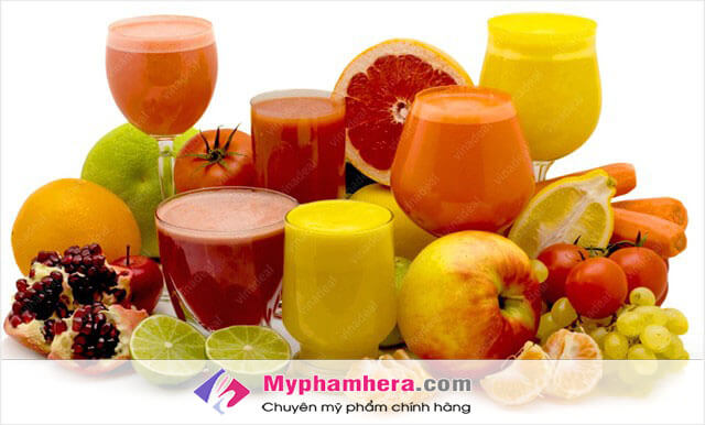 Uống các loại nước ép trái cây chống lão hoá da