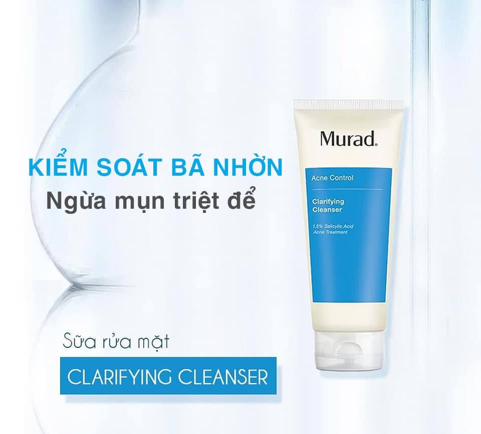 banner sữa rửa mặt trị mụn murad clarifying cleanser myphamhera.com