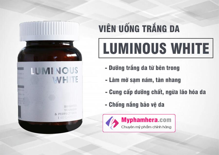 viên uống trắng da luminous white myphamhera.com