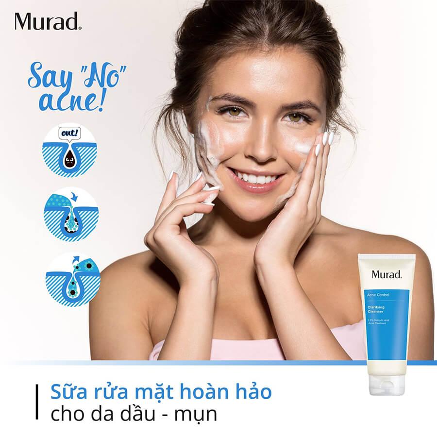 công dụng sữa rửa mặt trị mụn murad myphamhera.com